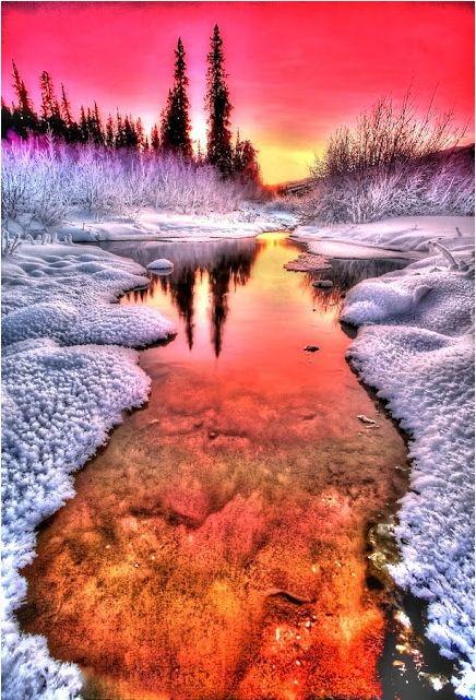 Les plus beaux couchers de soleil aux pays des glaces