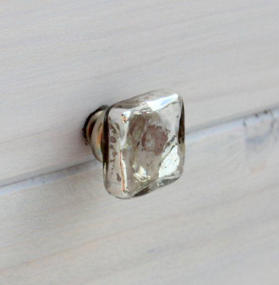 Mercury Glass Knob Drawer Pulls Glass Knobs Cabinet Knobs
