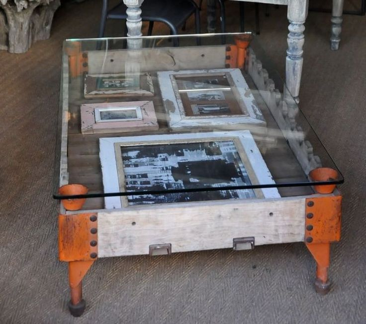 Vintage Glass Display Coffee Table