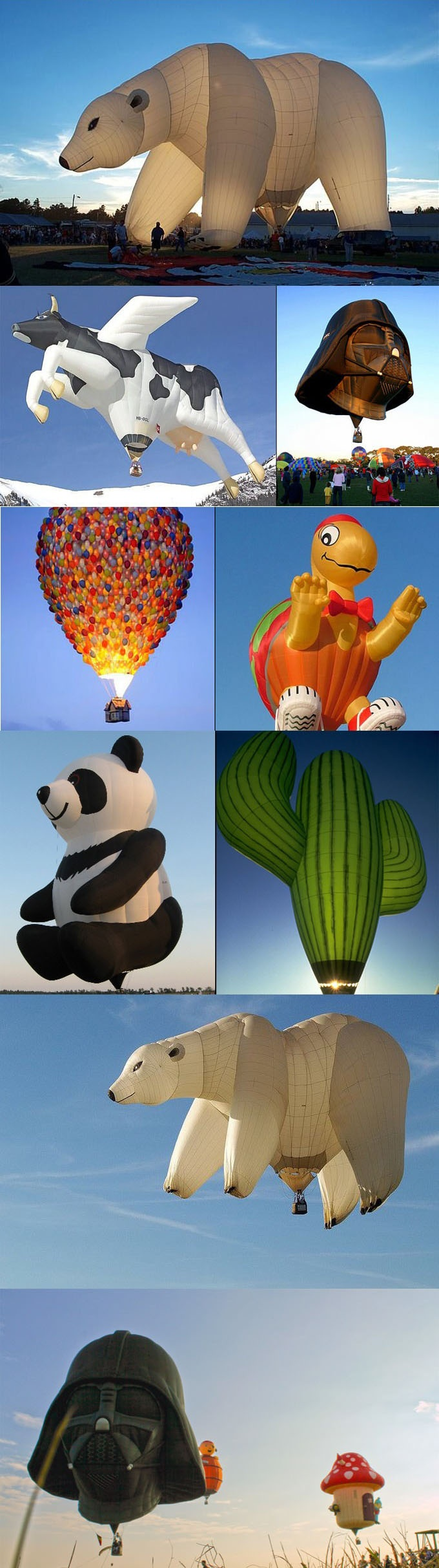 so cool! i wanna ride a hot air ballon...and these would be ten times better ahah