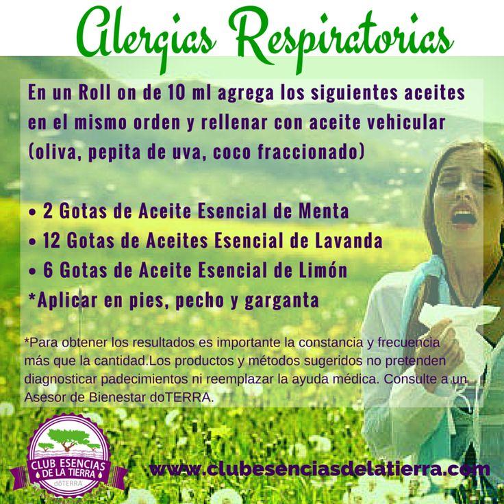Mezcla para Alergias Respiratorias de Aceites Esenciales doTERRA #aceitesesenciales #doterra