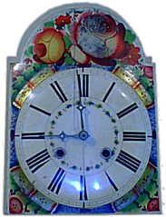 Antike Uhren - Lackschild Uhr