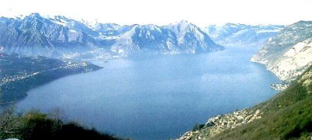 Lake Iseo in Lombardy, Italy.