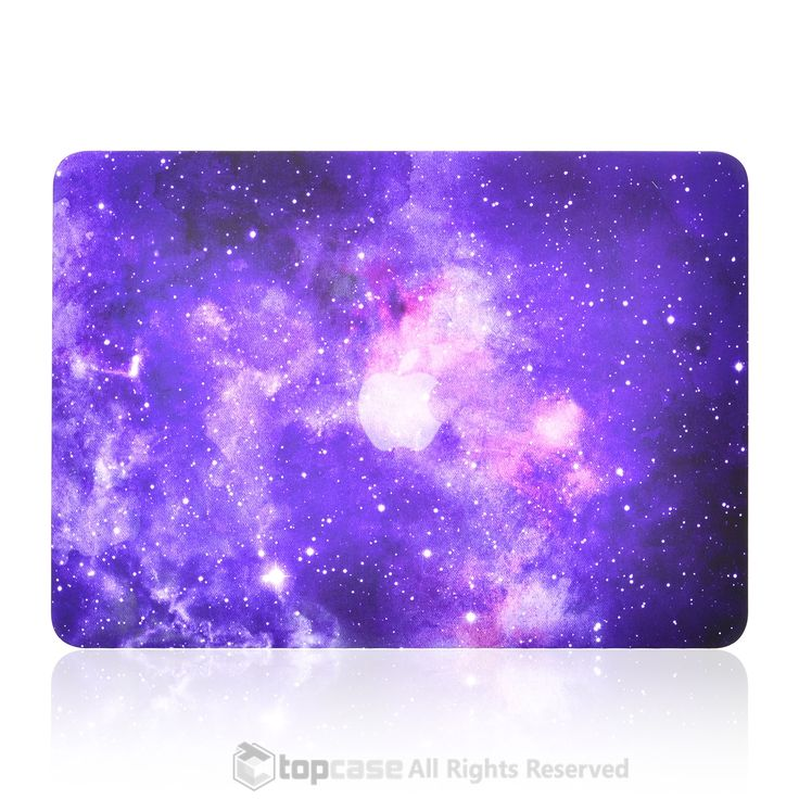 "Purple Galaxy Graphic Rubberized Hard Case for MacBook Pro 13"" with Retina Display Model A1425 / A1502"