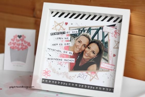 SCRAPBOOKING FRAMES AS A PERSONAL PHOTO GIFT FOR YOUR GIRLFRIEND – paperlovedesign.com