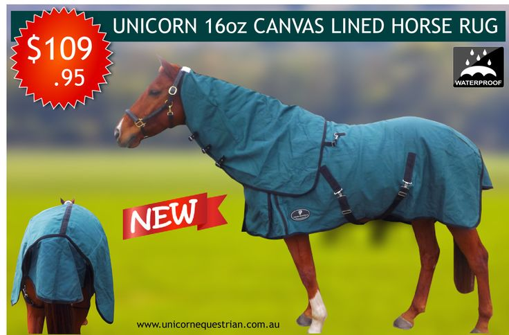 These 16oz Canvas Rug features built in ripstop and a standard half height 270gsm Wool blend internal blanket lining, to keep your horse snug and warm in the coolest of weather Featuring gussets at the shoulders for freedom of movement, double chest fittings for extra security, rump darts, adjustable/removable leg straps and double cross over surcingles.