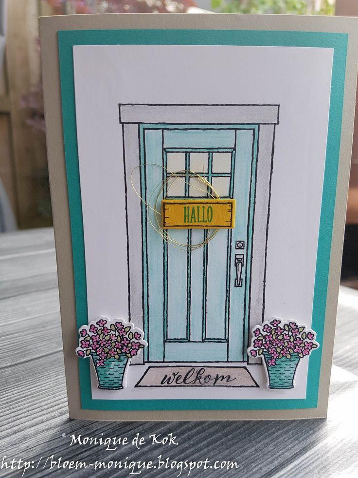 Bloem's blog, Stampin' Up!, Thuiskomen, watercolor pencils, kaarten, cards, zelfgemaakt, stampinmetmonique.