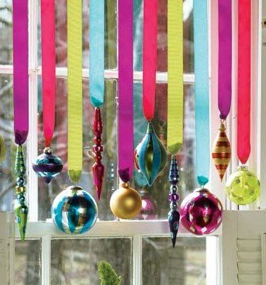 クリスマス窓飾り方例画像