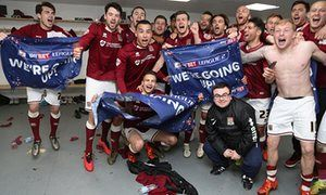 Northampton Town promoted to League One after Bristol Rovers draw