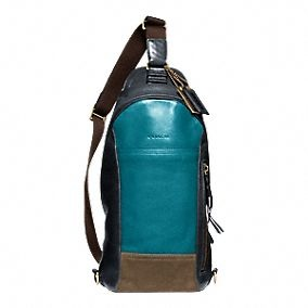 #FATHERSDAY HINT: Bleecker Leather Colorblock Convertible Sling Pack from @Coach, Inc.