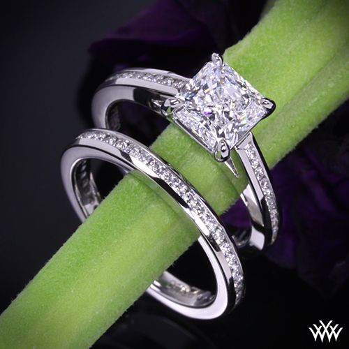 square radiant cut engagement ring Amazing ideas for weddings Pinterest