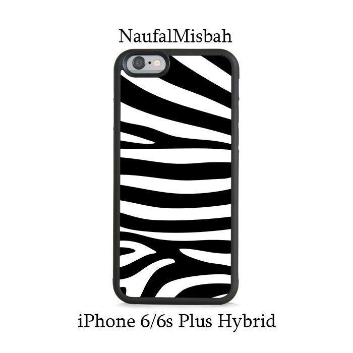 Black White Zebra Stripes iPhone 6/6s PLUS HYBRID Case Cover