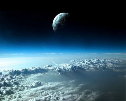 aboveClouds, Spaces Shuttle, Moon, Digital Art, Mothers Nature, Spaces Travel, Wallpapers, Planets Earth, Outer Spaces