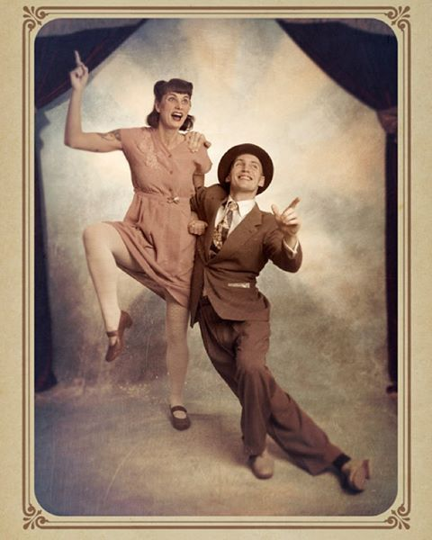 Lindy hoppers at the 5th Annual Ritz Winter Hop #dancers #lindyhop #swingdance #ritzwinterhop #2014 #vintagestyle #portraitphotography #photobooth #atelieriohaapala #rwh2014
