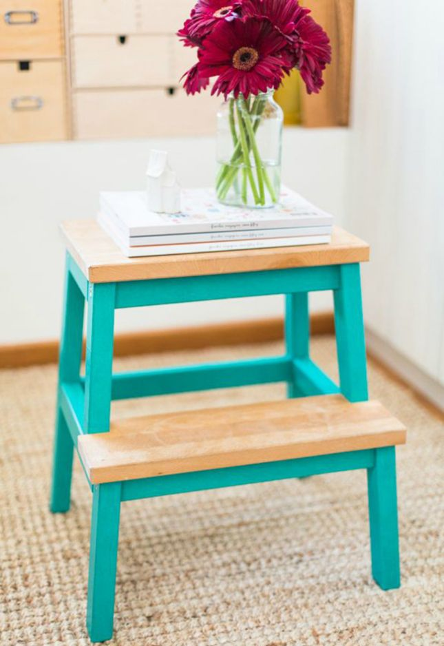 Use washi tape to update a stool.