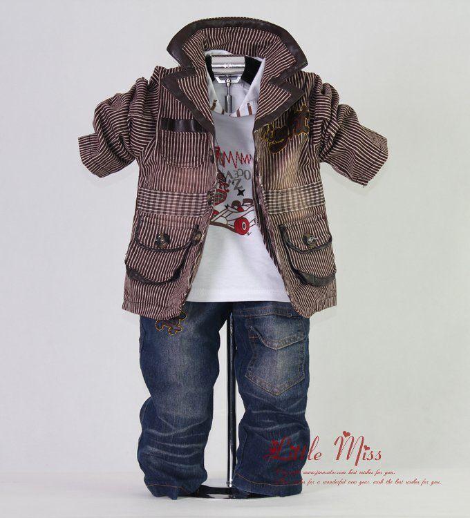 Details about smart baby boy outfit tuxedo jacket jeans sweatshirt jumper trousers stripe boys