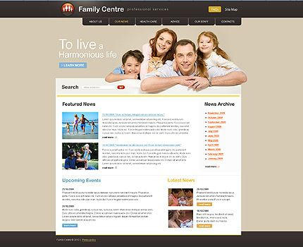 Family Center Website Templates by Delta