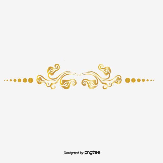 خط تقسيم الذهب ناقلات الذهب خط متجه خط فاصل Png وملف Psd للتحميل مجانا Frame Border Design Vector Line Patterns