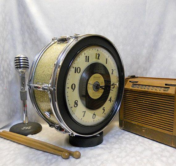17 meilleures id es propos de horloge murale vintage sur for Horloge murale 3 cadrans