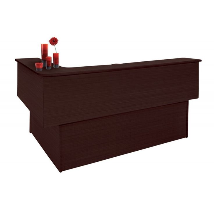 Reception office left corner wenge 175x150x115 ΕΟ11,5L