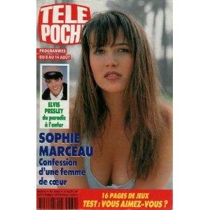 Sophie Marceau : confession d'une femme de coeur, dans Télé Poche n°1382 du 03/08/1992 [couverture isolée mise en vente par Presse-Mémoire]
