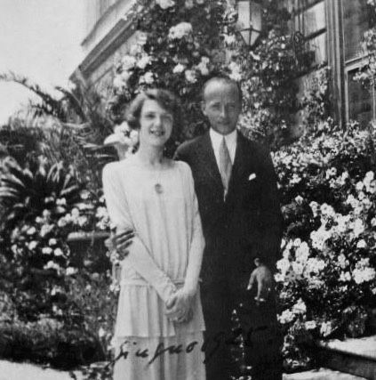 Rome, 1925.  Three month before their marriage. Prince Philipp of Hesse-Kassel (he was Landgrave of Hesse and his father was elected king of Finland) and his bride, Princess Mafalda of Savoy (she was Princess of Italy, Albania and Ethiopia).