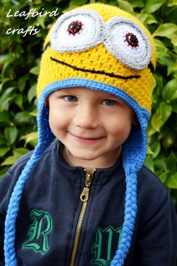 Crochet Minion Hats, Kids hat, Boy hat, Girl hat, Character Hat
