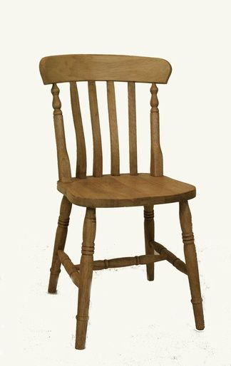 Slat back hardwood chair - www.pinefarmhousetable.co.uk