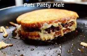100 Ways To Prepare Hamburger   Hamburger Recipes : Pats Patty Melt