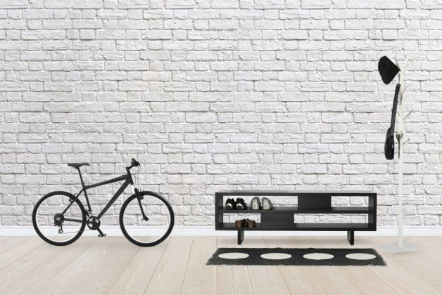 Brick Wall - White - Wall Mural & Photo Wallpaper