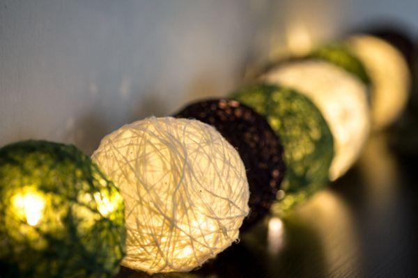 Lichterkette aus Wolle - Handgemachtes - Klabüstermann
