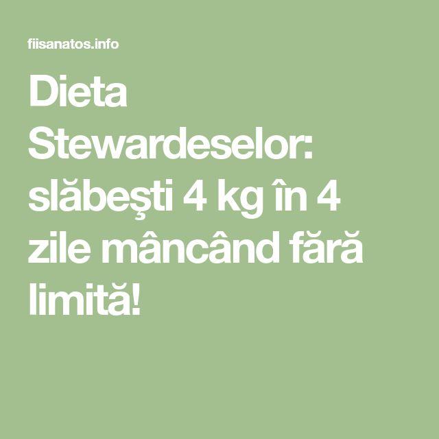 Dieta Stewardeselor: slăbeşti 4 kg în 4 zile mâncând fără limită!