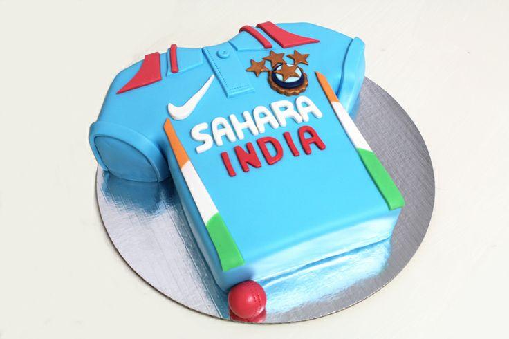 Indian Cricket team cake by Sweet Bakery & Cakery, Wellington NZ (www.sweetbakery.co.nz)