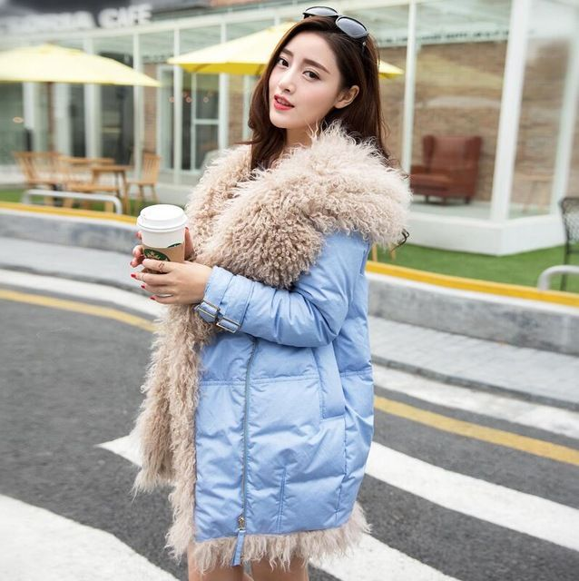 Brand Winter Jackets White Duck Down Jacket Women 2015 Medium Long Thick Natural Sheep Fur Hooded Parkas For Women Winter US $147.68 /piece     CLICK LINK TO BUY THE PRODUCT  http://goo.gl/oYWEYs