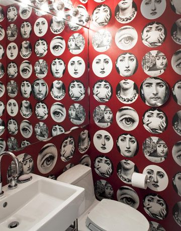 68 best images about steampunk home bathroom on pinterest shabby chic bathrooms steampunk - Fornasetti faces wallpaper ...