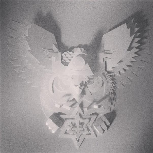 #PHILTOYS #PAPER #ART #ILLUMINATI #OWL #EHXIBITHION #TOYS #WHITE #STYLE #ITALY