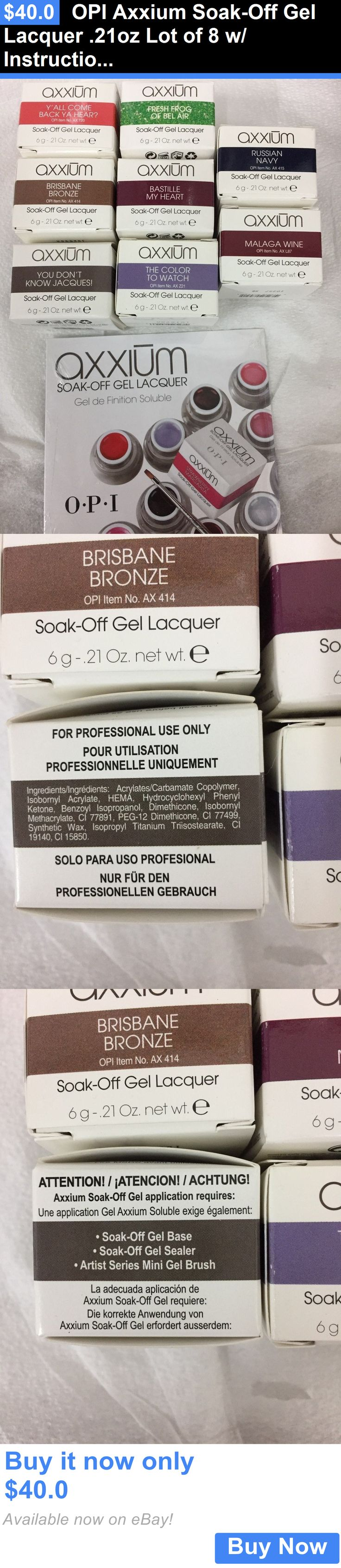 Gel Nails: Opi Axxium Soak-Off Gel Lacquer .21Oz Lot Of 8 W/ Instructional Dvd BUY IT NOW ONLY: $40.0