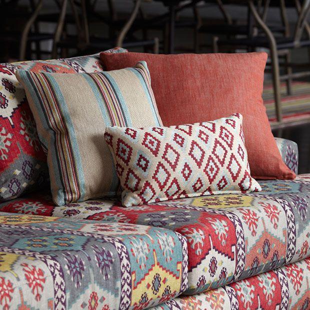 Warwick Fabrics: ANTHROPOLOGY / cotton fabric textiles / cushions