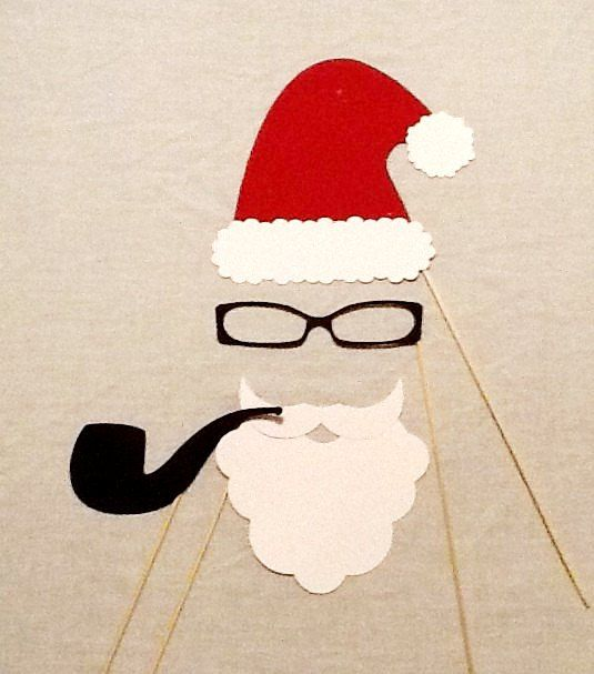 Holiday Photo Booth Props 4 pc Christmas Photobooth Props Santa Claus Christmas Party Props