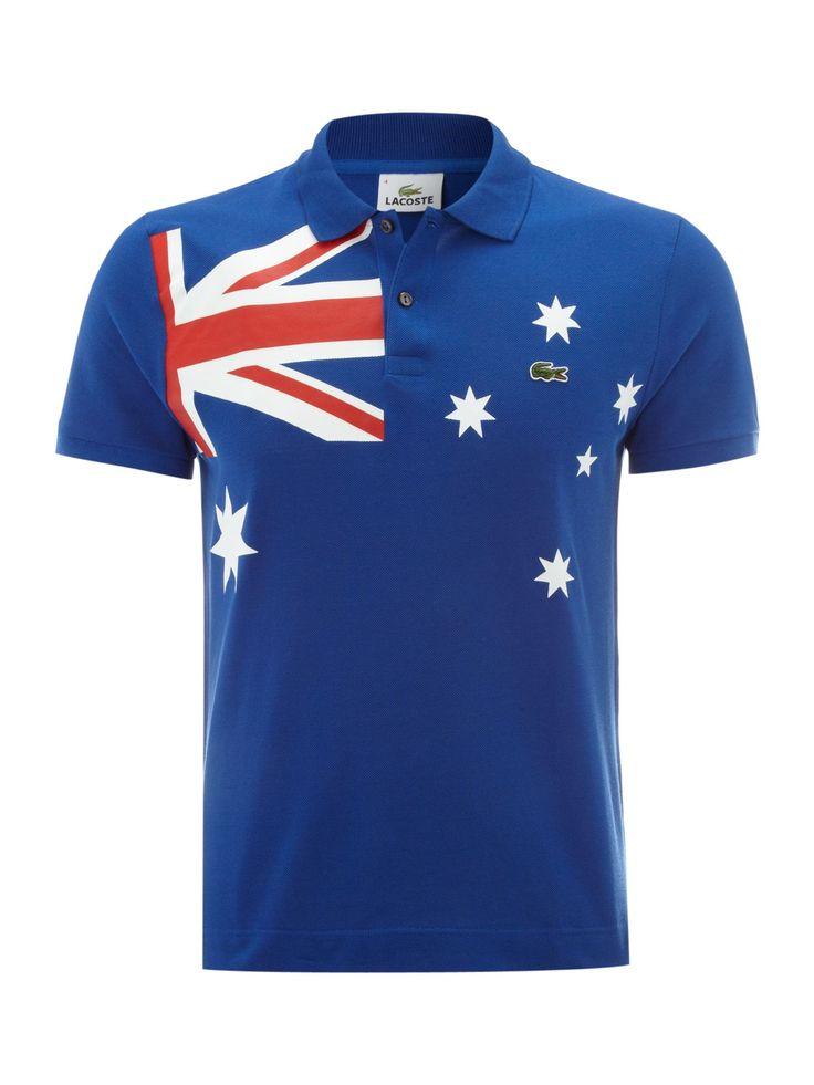Lacoste Slim fit Australia flag polo shirt - Men