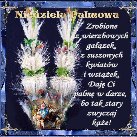 Wielkanoc: Gify i wierszyki Niedziela Palmowa