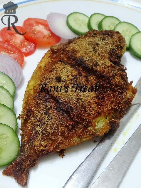 Rani's Treat: Pomfret Fry | Chettinad Style Pomfret Fish Fry | A...