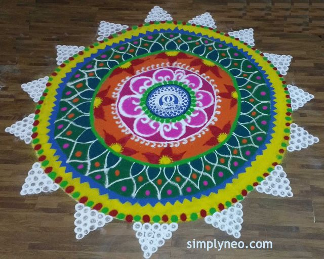 Happy New Year Rangoli Design Gallery 37