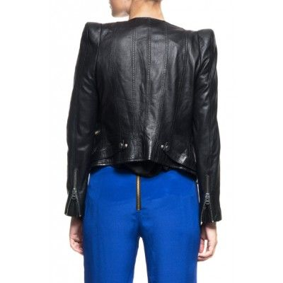 By Malina - Jade Leather Jacket Black - Kotyr.com