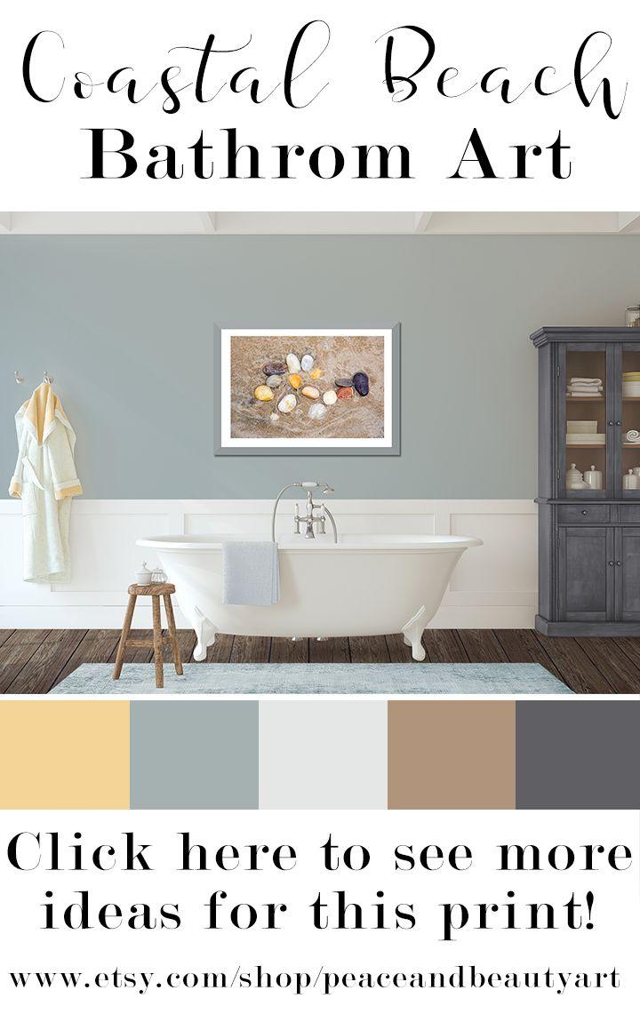 Modern Coastal Art Yoga Wall Art Taupe Wall Art Minimalist Etsy Taupe Walls Trendy Bathroom Tiles Zen Bathroom