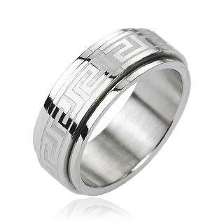 Spin Doctor - FINAL SALE Tribal Inspired Design Spinner Stainless Steel Ring