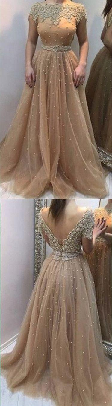 Backless A-Line Beading Prom Dress,Long Prom Dresses,Charming Prom Dresses,Evening Dress, Prom Gowns, Formal Women Dress,prom dress