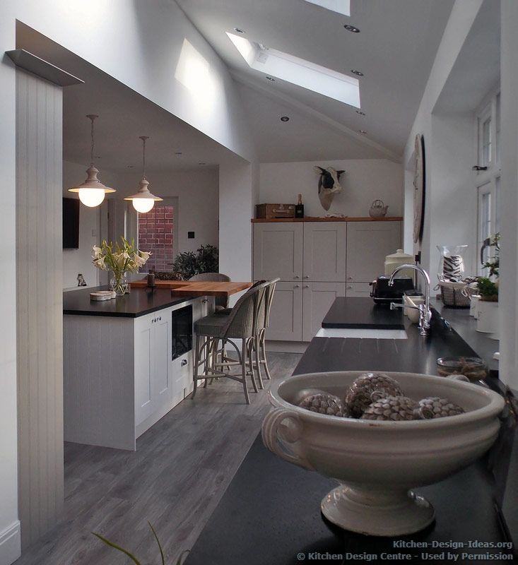 Kitchen Lighting Vaulted Ceiling: #Kitchen Of The Day: This Traditional Minimalist Kitchen