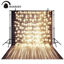 Allenjoy 5x7ft Shiny Stage Photography Backdrop a string of festive lights wedding template background for photo studio Custom(China (Mainland))