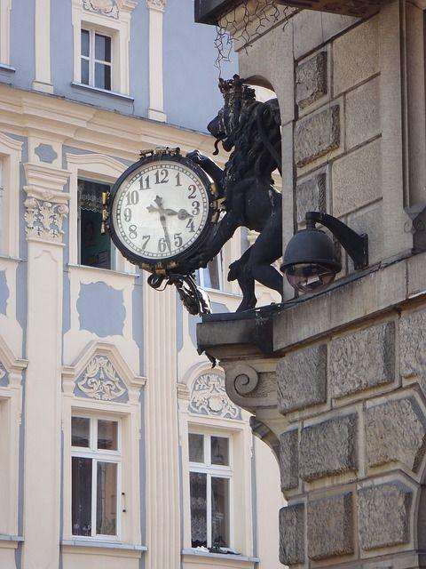 Ciudad, Mercado, Reloj, Tiempo, Edificio